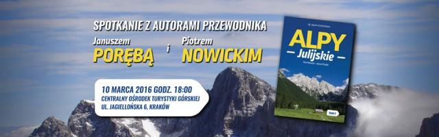 Alpy Julijskie – spotkanie podróżnicze w Krakowie
