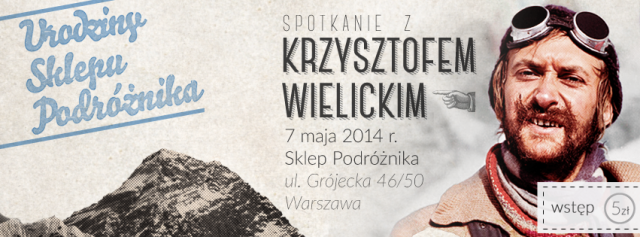 7 maja spotkanie z Krzysztofem Wielickim!